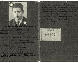 Christian Peter Friese, shot dead at the Berlin Wall: Driver's license, Jan. 31, 1964