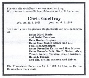 Chris Gueffroy Obituary