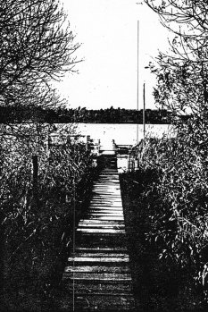 Franciszek Piesik, drowned in the Berlin border waters: Boat pier in Heiligensee, from where the body was discovered (date of photo not known)