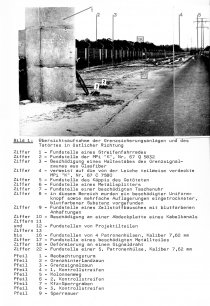 Ulrich Steinhauer, shot dead at the Berlin Wall: MfS crime site photo of the border strip between Schönwalde and Berlin-Spandau with caption (I) [Nov. 4, 1980]