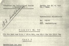 Philipp Held: Rapport der Ost-Berliner Volkspolizei, 23. April 1962