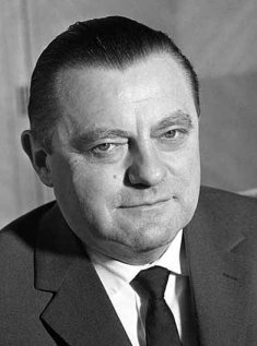 Franz Josef Strauss, West German Defence Minister and CSU Chairman (photo taken in the sixties)