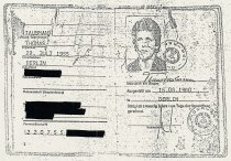 Thomas Taubmann, fatally injured at the Berlin Wall: Identification card