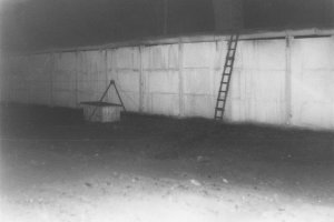 Michael Bittner, shot dead at the Berlin Wall: MfS photo of escape ladder at the Berlin Wall between Glienicke/Nordbahn and Berlin-Reinickendorf [Nov. 24, 1986]
