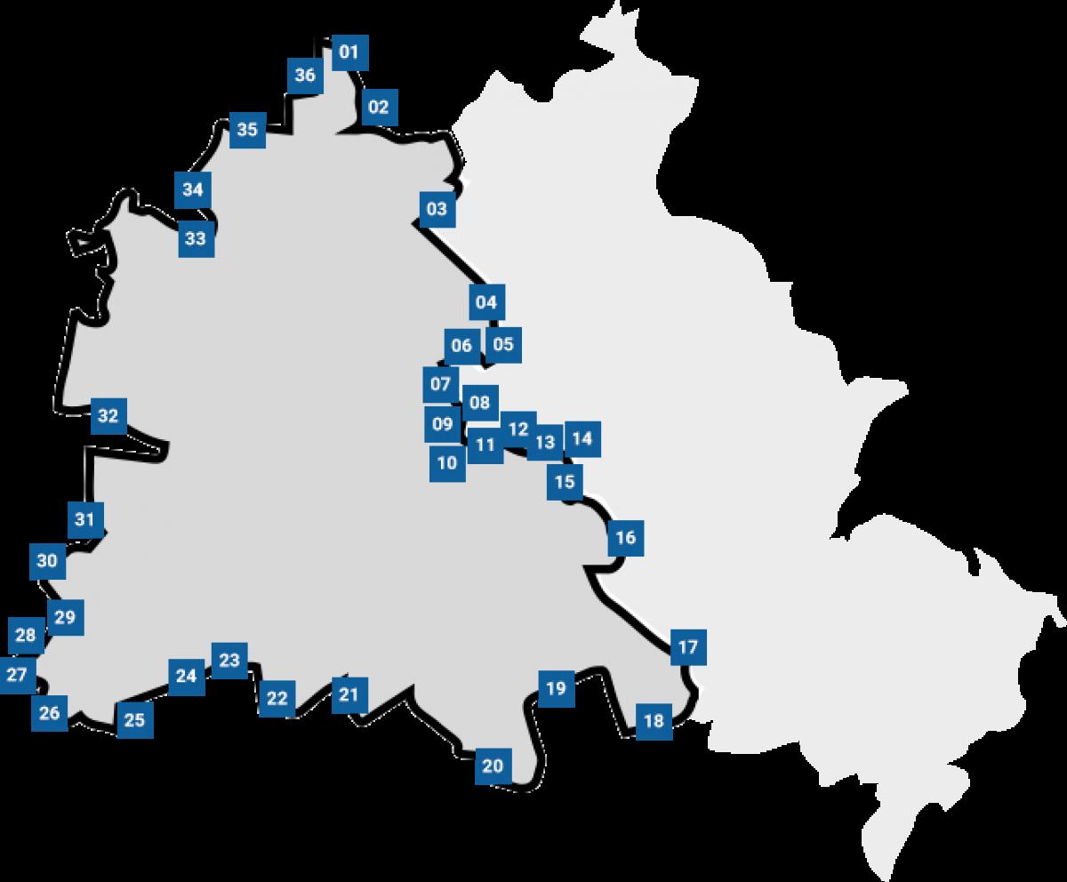Berliner Mauer Radweg Karte