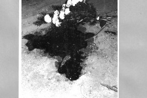 Hans-Dieter Wesa, shot dead at the Berlin Wall: West Berlin police crime site photo [Aug. 23, 1962]