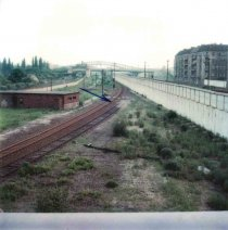 Lothar Fritz Freie, shot at the Berlin Wall and died from his injuries: MfS photo of the East German territory situated in front of the border fortifications near the Helmut-Just Bridge