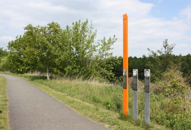Peter Kreitlow: Commemorative Column on the westside of the Niederneuendorf Lake