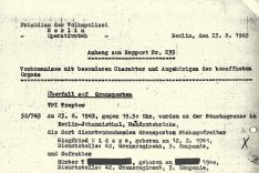 Siegfried Widera: Bericht der Ost-Berliner Volkspolizei, 23. August 1963