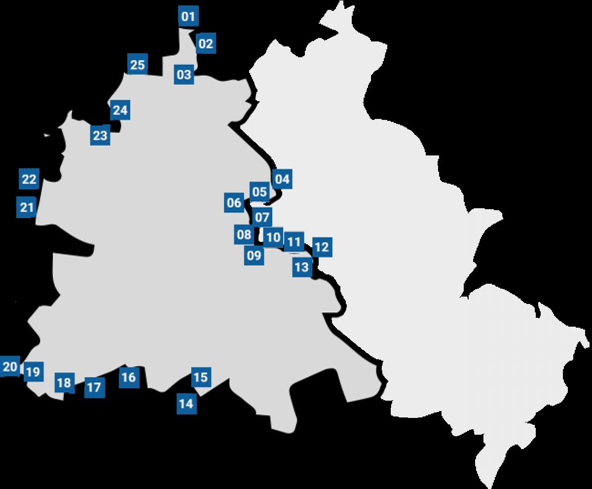 Bau Der Berliner Mauer Karte.Mauer Und Todesstreifen Chronik Der Mauer