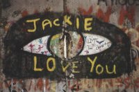 Mauergraffiti: Jackie I Love You