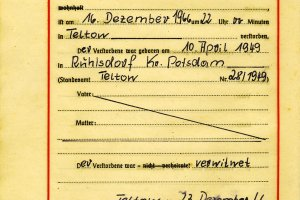 Karl-Heinz Kube, shot dead at the Berlin Wall: Death certificate from Dec. 23, 1966