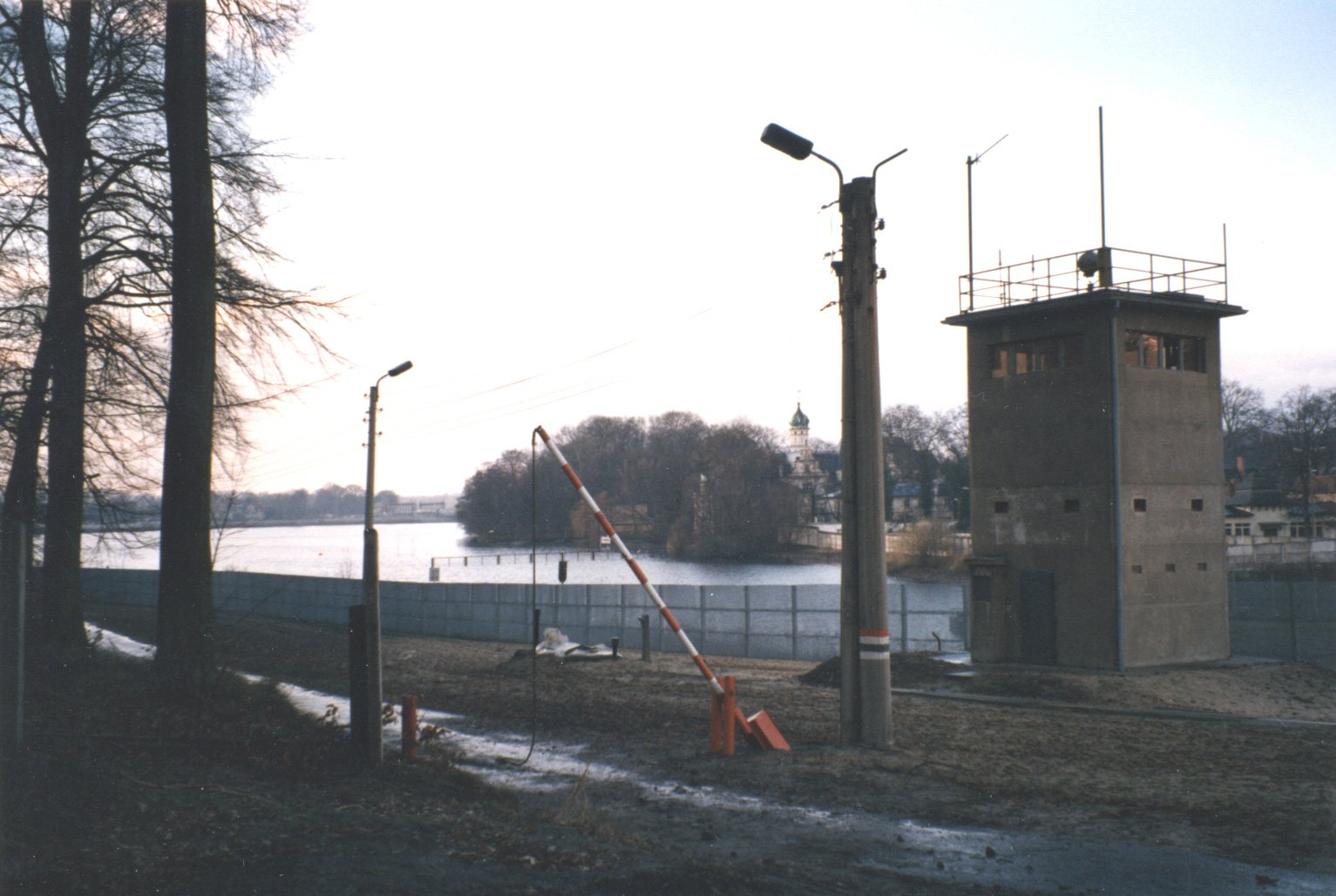 Abandoned command post of the border troops near the palace gardens in Babelsberg, Potsdam, January 1990