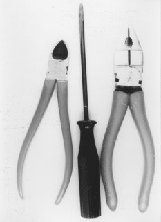 Walter Kittel, shot dead at the Berlin Wall: Tools he took with him to get through the border fortifications [MfS photo; October 1965]