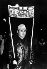 "Participant in the ""Monday Demonstration"" in Leipzig, 22 January 1990"