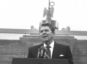 Ronald Reagan am Brandenburger Tor, 12. Juni 1987