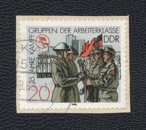 Special stamp for the 35th anniversary of the GDR Combat Groups