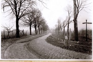 Dieter Wohlfahrt, shot dead at the Berlin Wall: West Berlin police crime site photo of the border at the outer ring between Staaken and Berlin-Spandau [Dec. 9, 1961]
