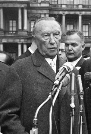 West German Chancellor Dr. Konrad Adenauer (photo taken April 1961)