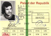Herbert Halli, shot dead at the Berlin Wall: Work ID (issue date: 1974/75)